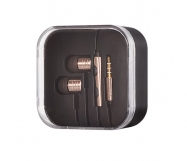 KIT AURICULAR 3.5mm SAM/SONY METALICO DOURADO