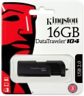 Pen Drive Kinsgton 16Gb Data Treveler 104 USB2.0